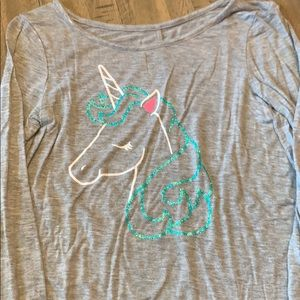 Girls Justice Long Sleeve Tee Size 8